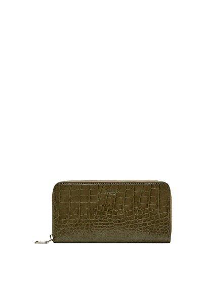 Violeta BY MANGO Croc-effect wallet