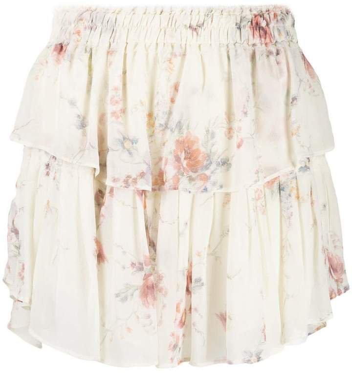Love Shack Fancy floral ruffle skirt