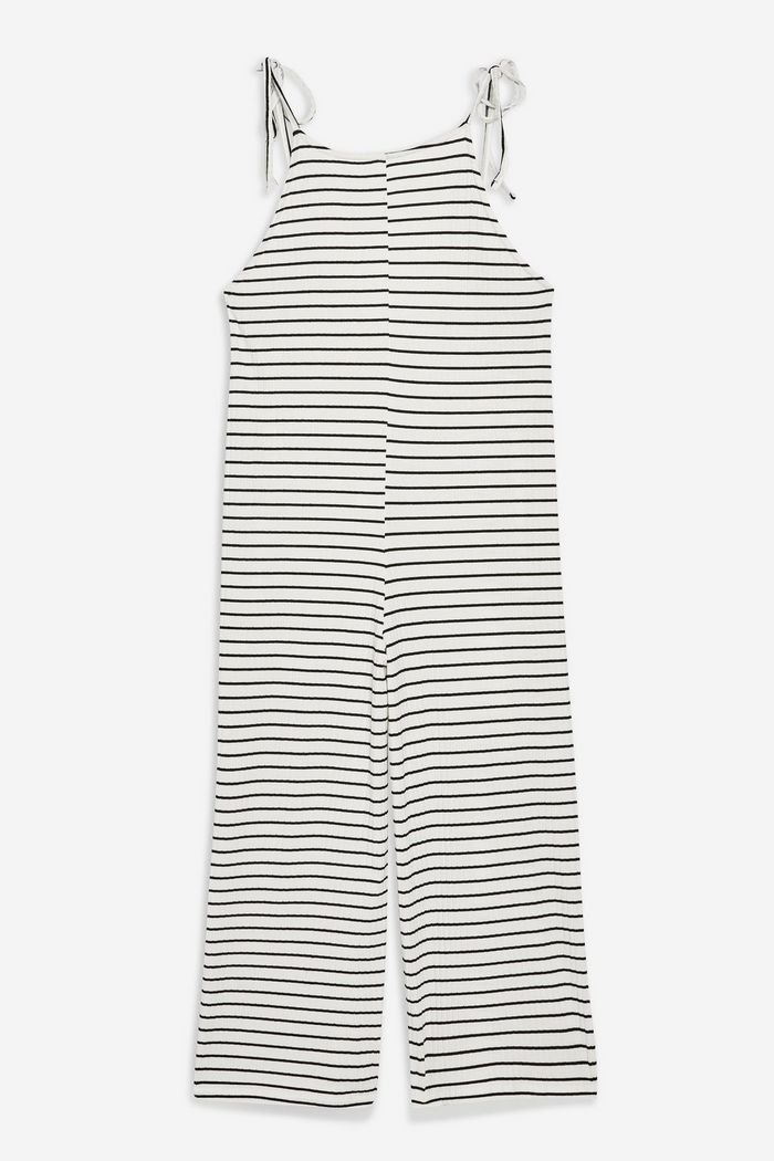 Stripe Tie Strap Romper | Topshop white