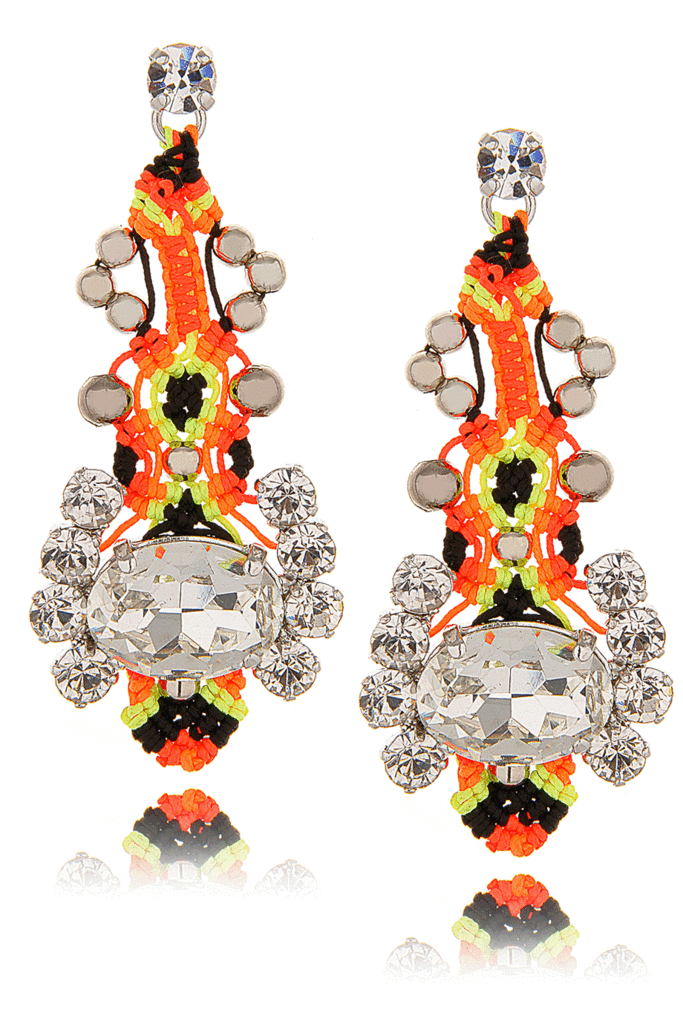 LK DESIGNS NEON PASSION Crystal Thread Earrings – PRET-A-BEAUTE.COM