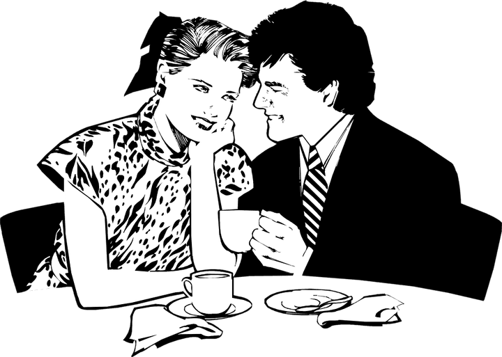 drawings couple dining - Google Search