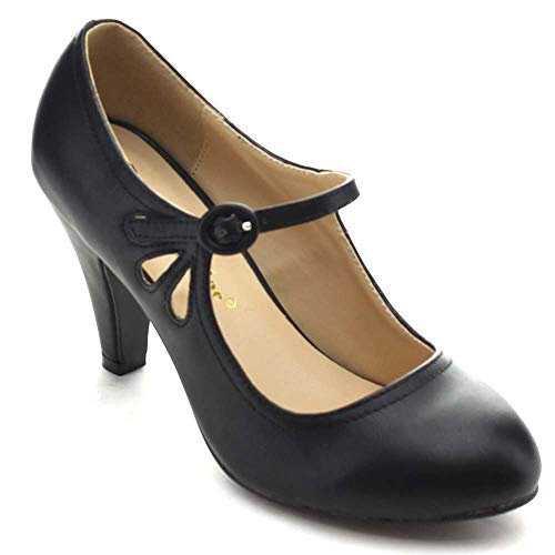 black vintage heels