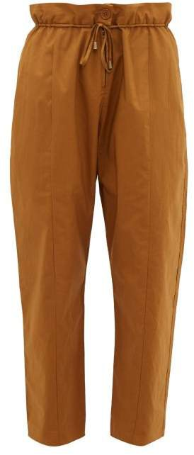 Josephine Cotton Trousers - Womens - Camel
