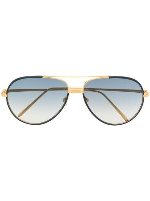 Linda Farrow aviator-frames sunglasses