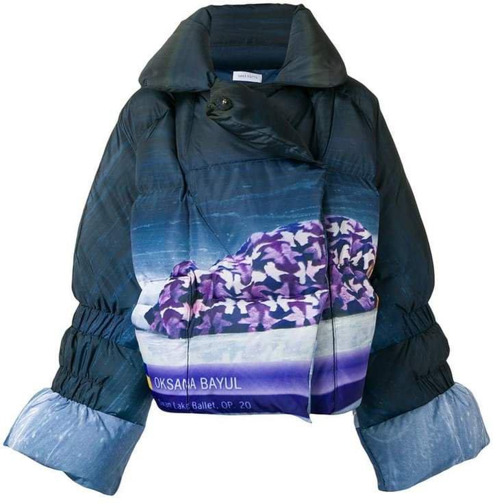 Saks Potts Oksana Bayul printed puffer jacket