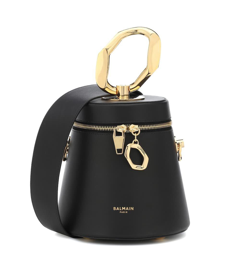 Romeo Leather Shoulder Bag - Balmain | Mytheresa