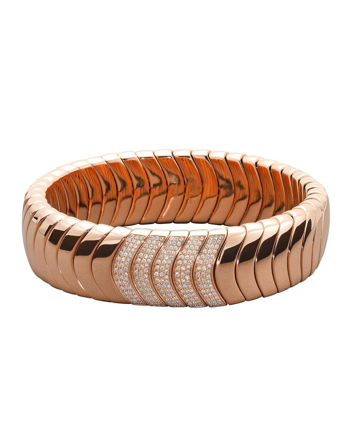 Mattia Cielo 18k Rose Gold Diamond Stretch Bracelet