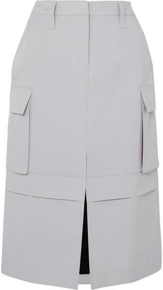 Twill Pencil Skirt - Gray