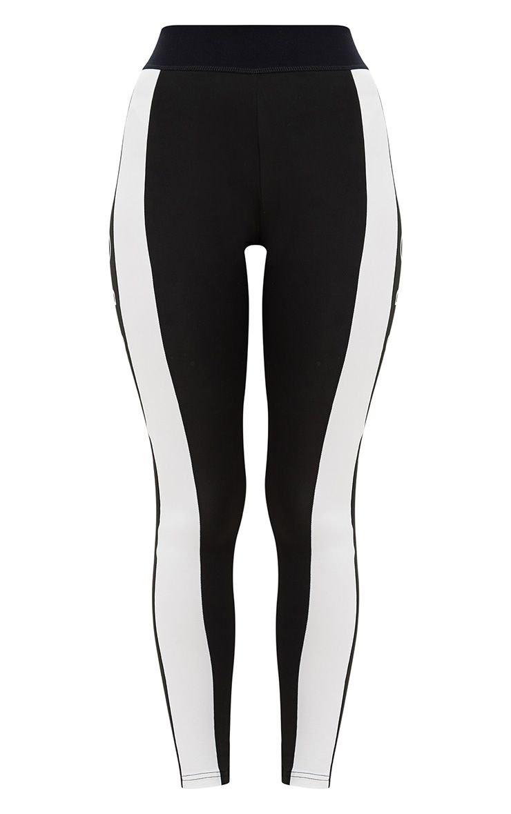 Black Monochrome Leggings. Activewear | PrettyLittleThing