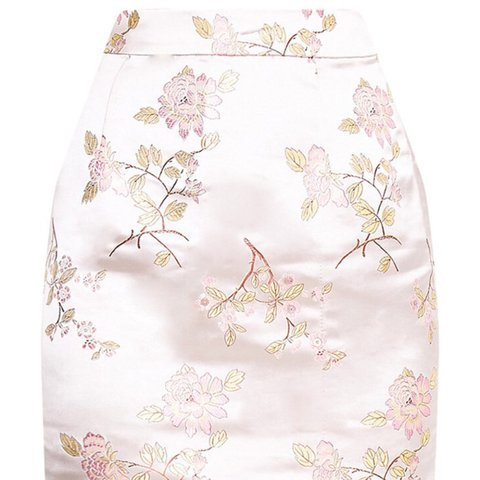 Oriental champagne skirt