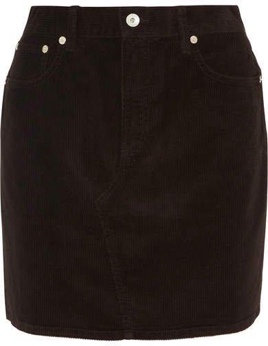 Hayden Stretch-cotton Corduroy Mini Skirt - Black