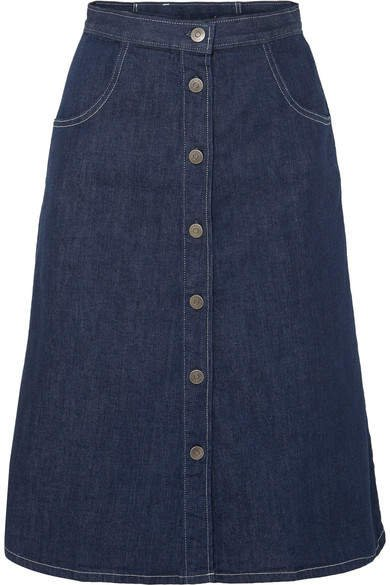 Callcott Organic Denim Skirt - Dark denim