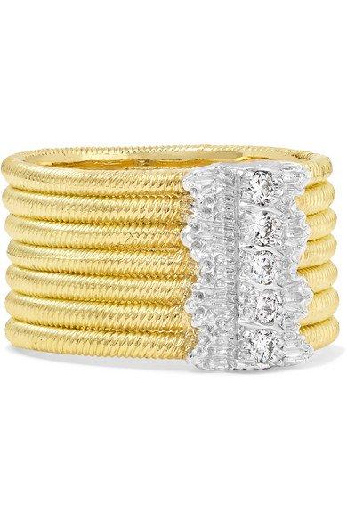 Buccellati | Hawaii 18-karat yellow and white gold diamond ring | NET-A-PORTER.COM