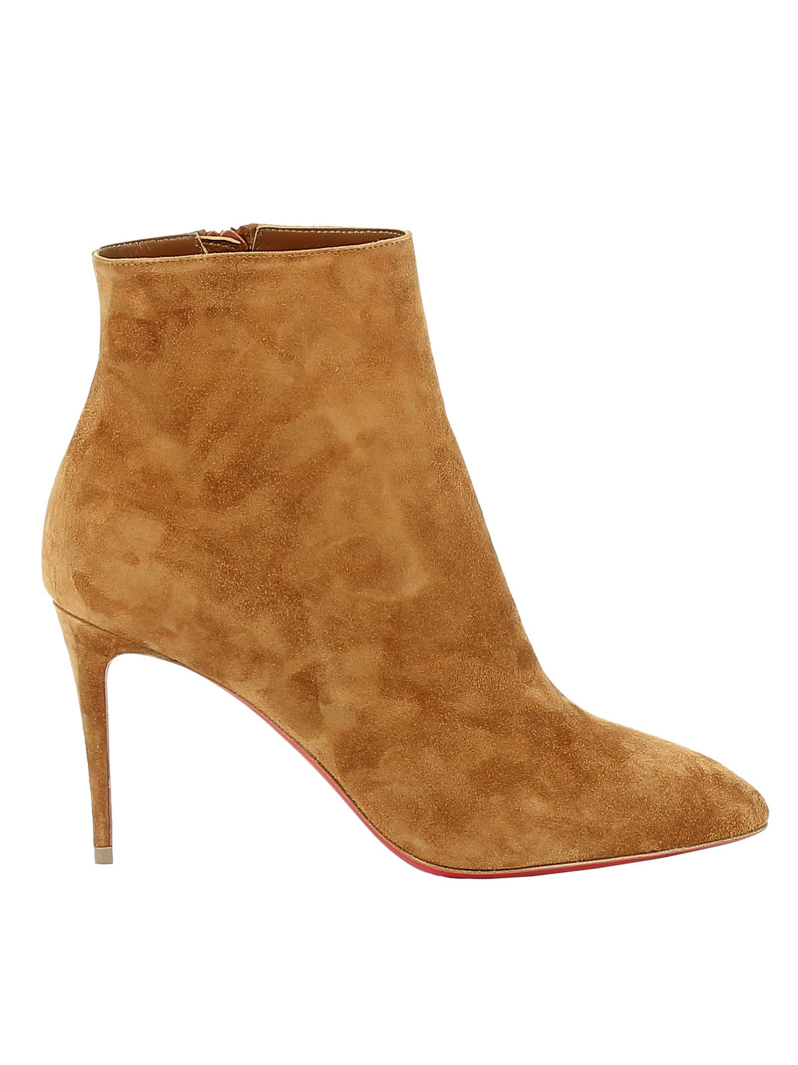 Christian Louboutin Cuoio Suede Ankle Boots