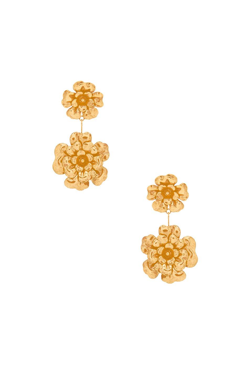 Double Floral Dangle Earrings