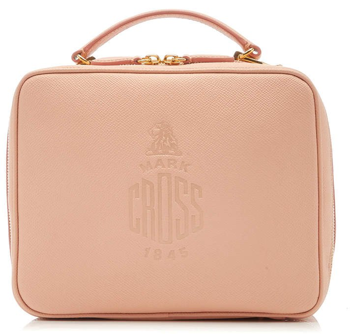 Mark Cross Laura Embossed Logo Crossbody Bag