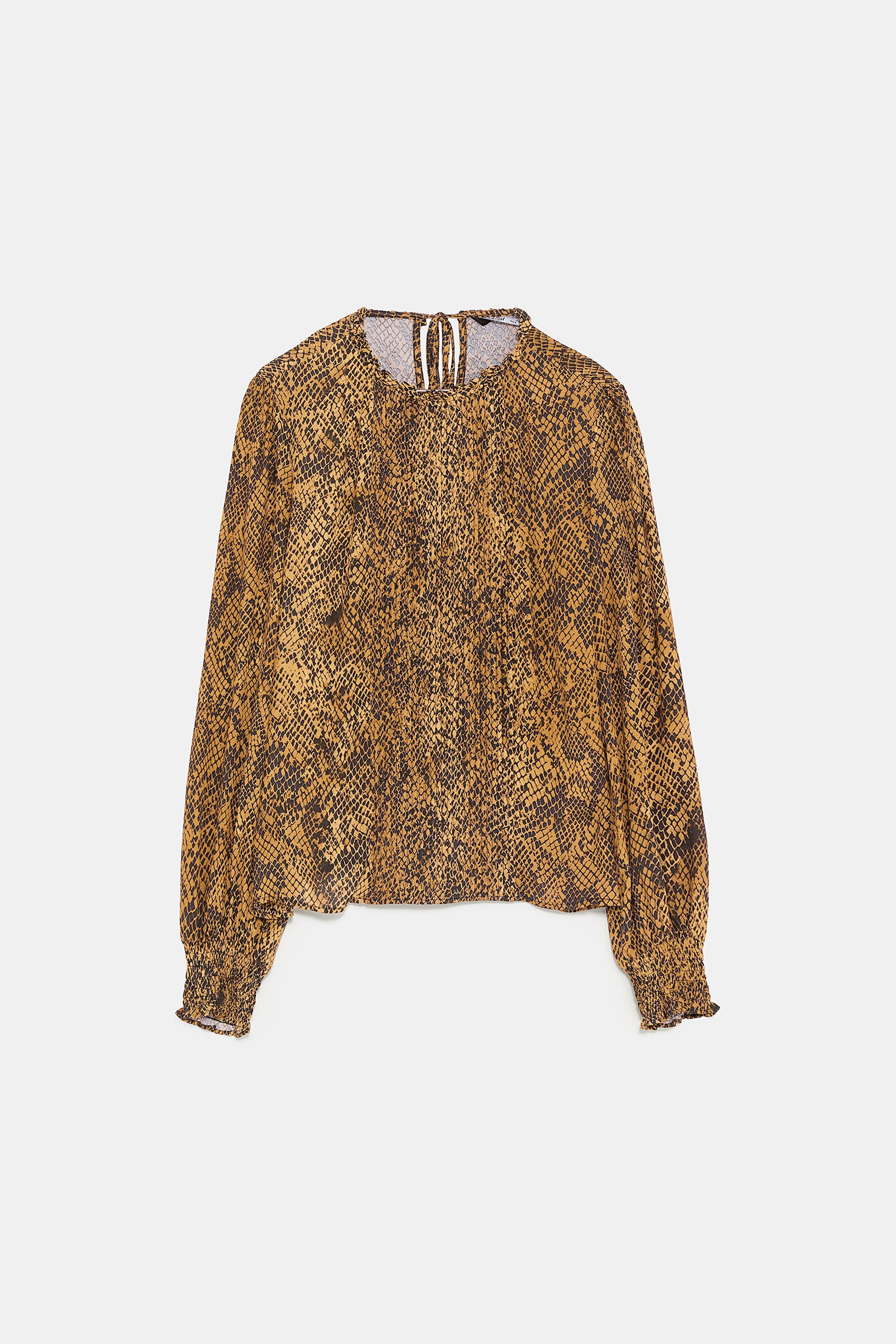 ANIMAL PRINT BLOUSE - View All-SHIRTS | BLOUSES-WOMAN | ZARA United States