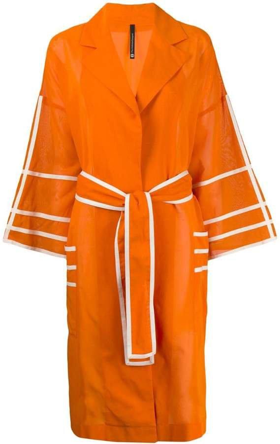 Pierantoniogaspari striped belted coat