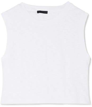 The Range - Tide Slub Cotton-jersey Tank - White