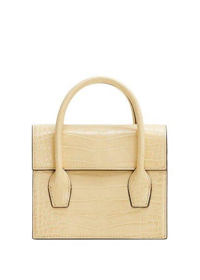 MANGO Croc-effect mini bag