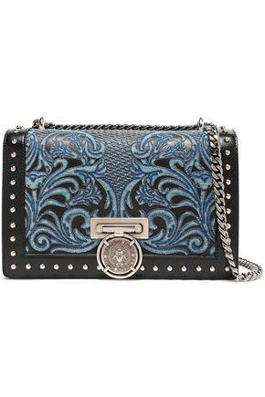 Embellished leather shoulder bag | BALMAIN | Sale up to 70% off | THE OUTNET