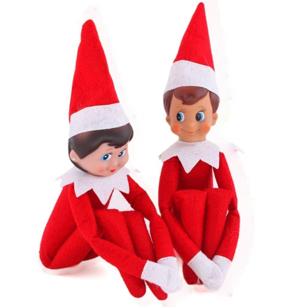 DressLily.com: Photo Gallery - 2Pcs Christmas Elf Toy Plush Dolls One Set (Red Boy and Girl) for Christmas Gift