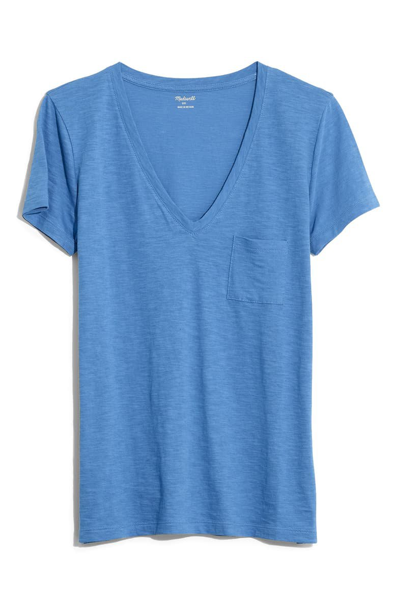 Madewell Whisper Cotton V-Neck Pocket Tee (Regular & Plus Size) | Nordstrom