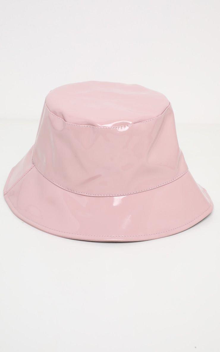 Black Pu Vinyl Bucket Hat | Accessories | PrettyLittleThing USA