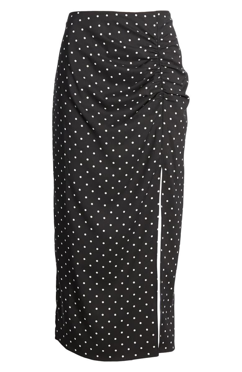 Something Navy Shirred Slip Skirt (Nordstrom Exclusive) | Nordstrom