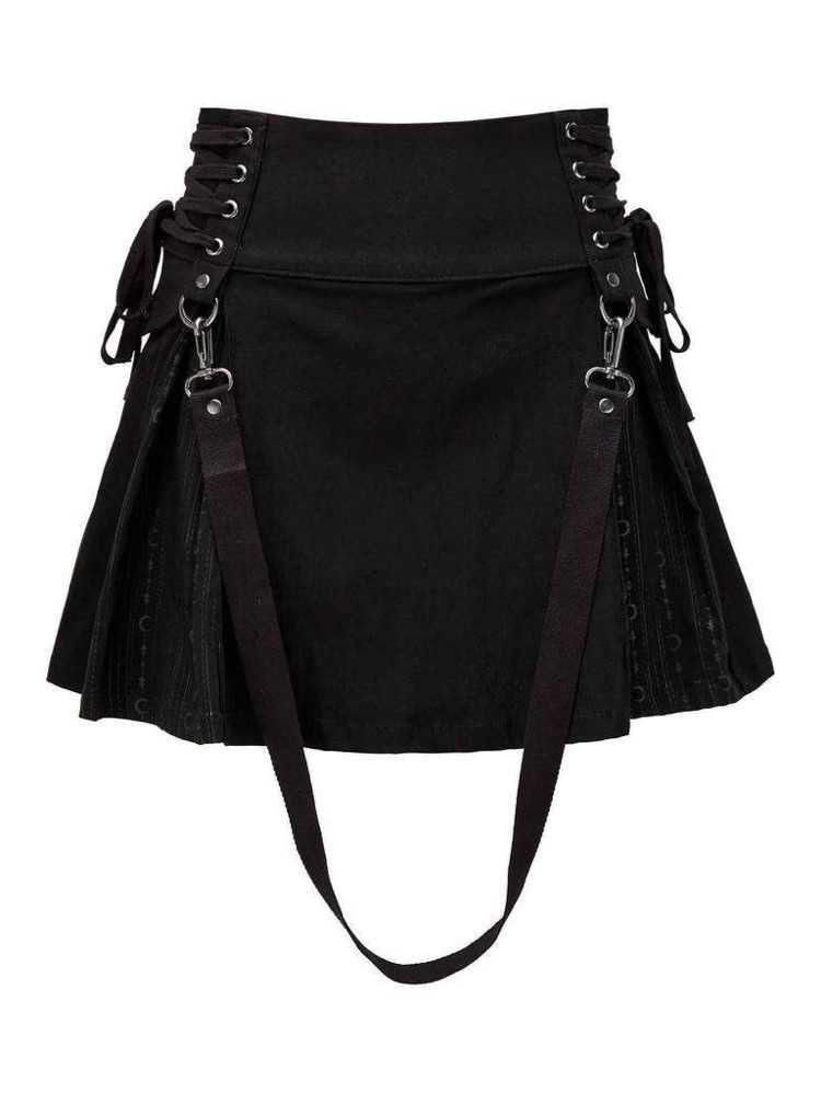 black skirt + strap