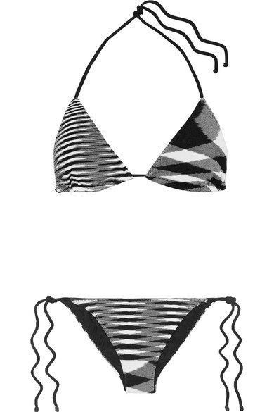 Missoni | Mare Donna striped crochet-knit triangle bikini | NET-A-PORTER.COM