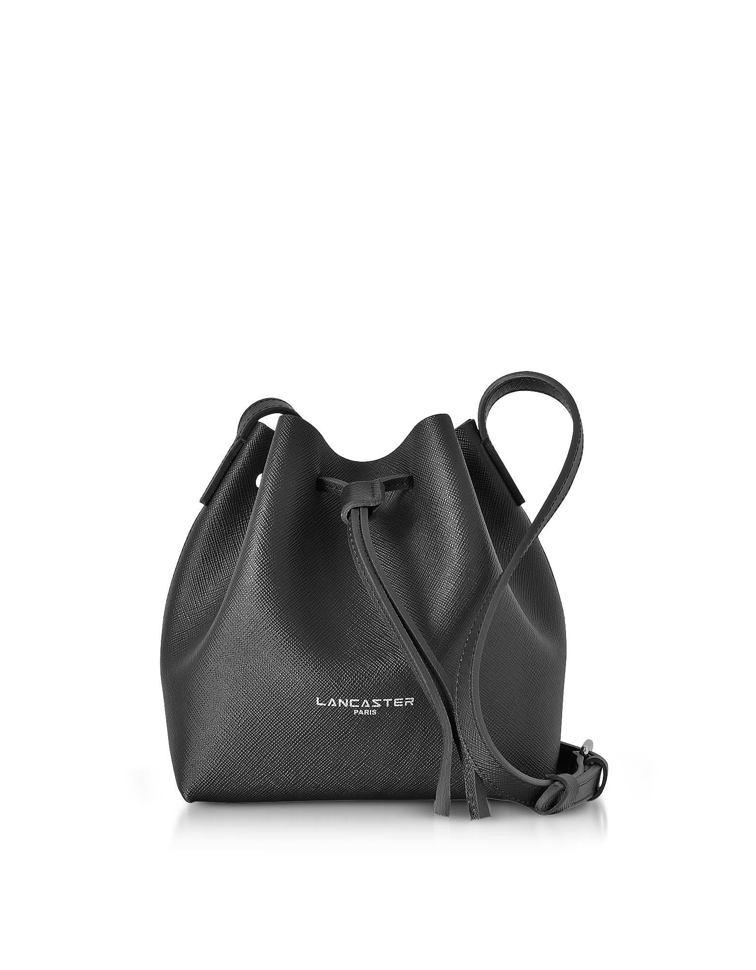 Lancaster Paris Pur & Element Saffiano Leather Mini Bucket Bag