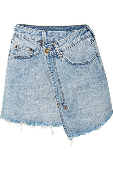 Ksubi | Rap frayed denim mini skirt | NET-A-PORTER.COM