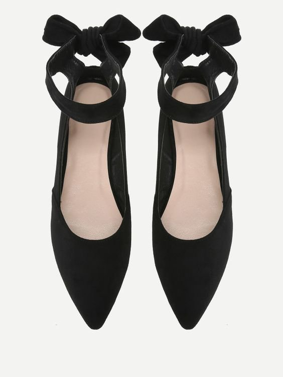Bow Decorated Pointed Toe Flats