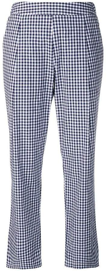 Semicouture checked straight-leg trousers