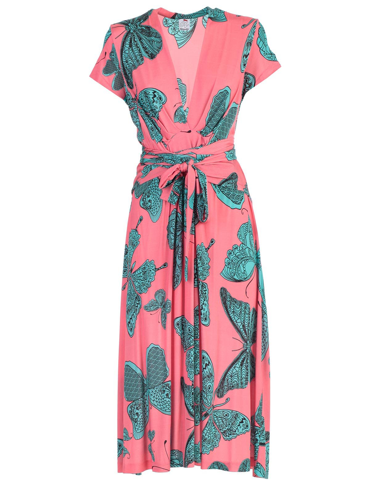 Ultrachic Butterfly Print Wrap Dress