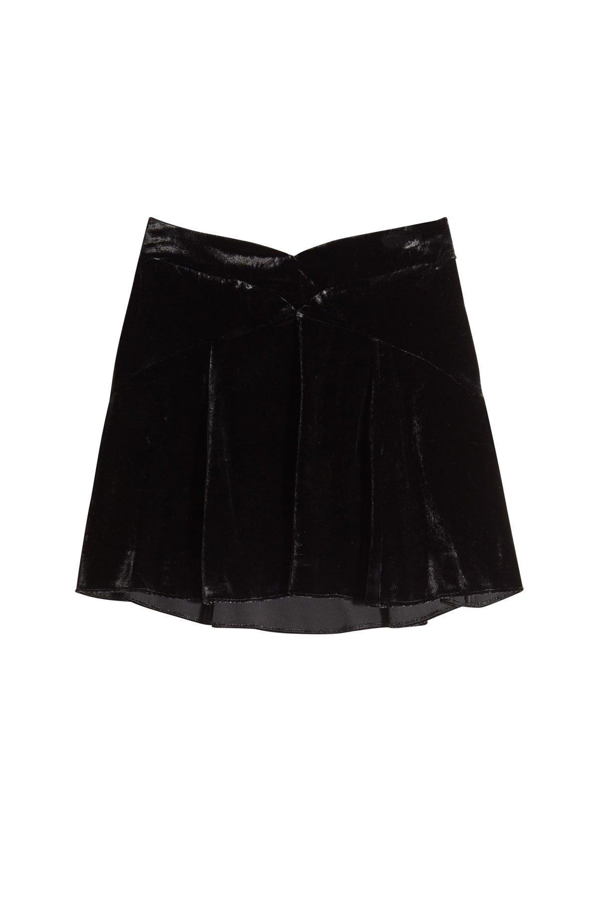Velvet Skirt with Silk Gr. US 6