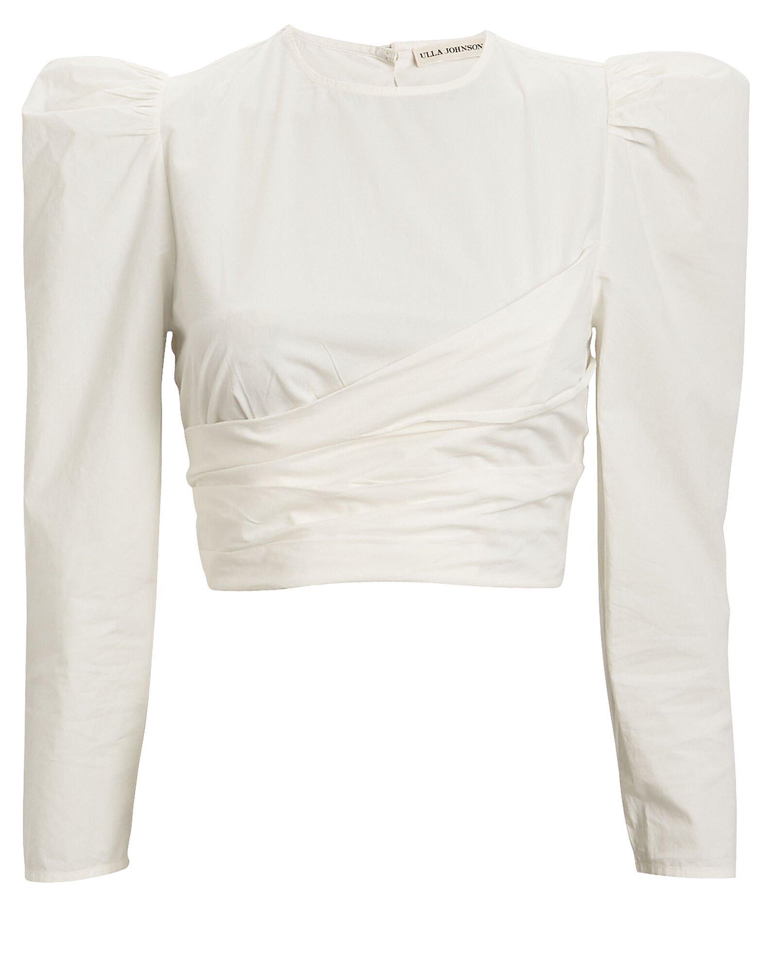 Ulla Johnson   Eden Cropped Cotton Blouse   INTERMIX®