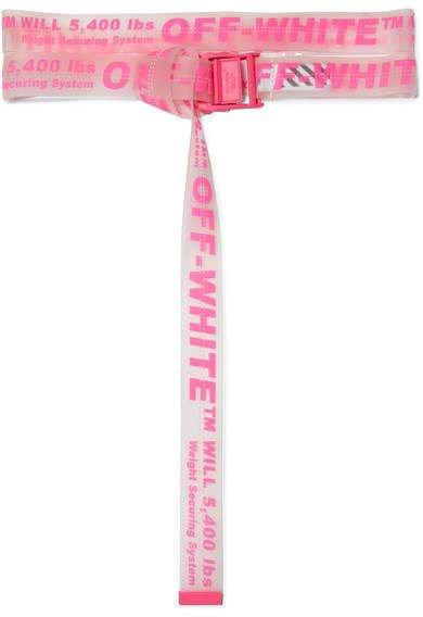 Off-White - Neon Printed Pvc Belt - Bright pink