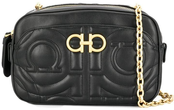 Gancini quilted crossbody bag