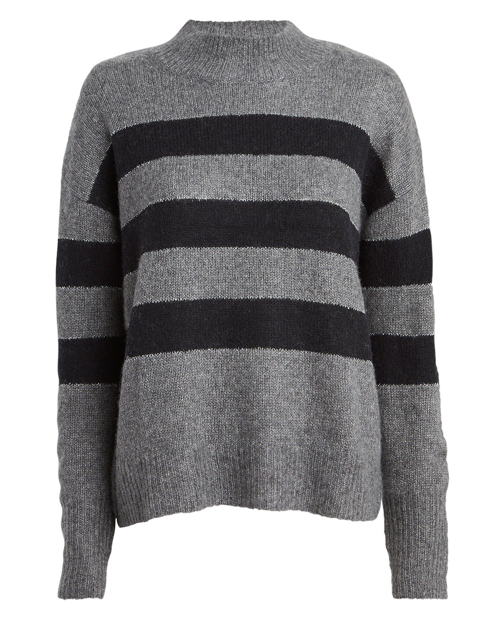 Ellise Striped Mock Neck Sweater