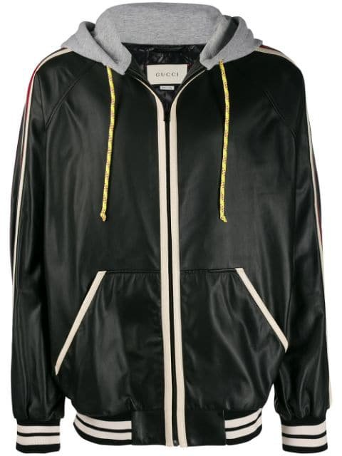 Gucci hooded leather jacket $5,400 - Buy AW19 Online - Fast Global Delivery, Price