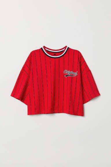Wide-cut T-shirt - Red