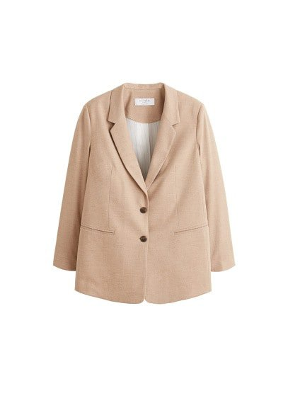 Violeta BY MANGO Structured textured blazer
