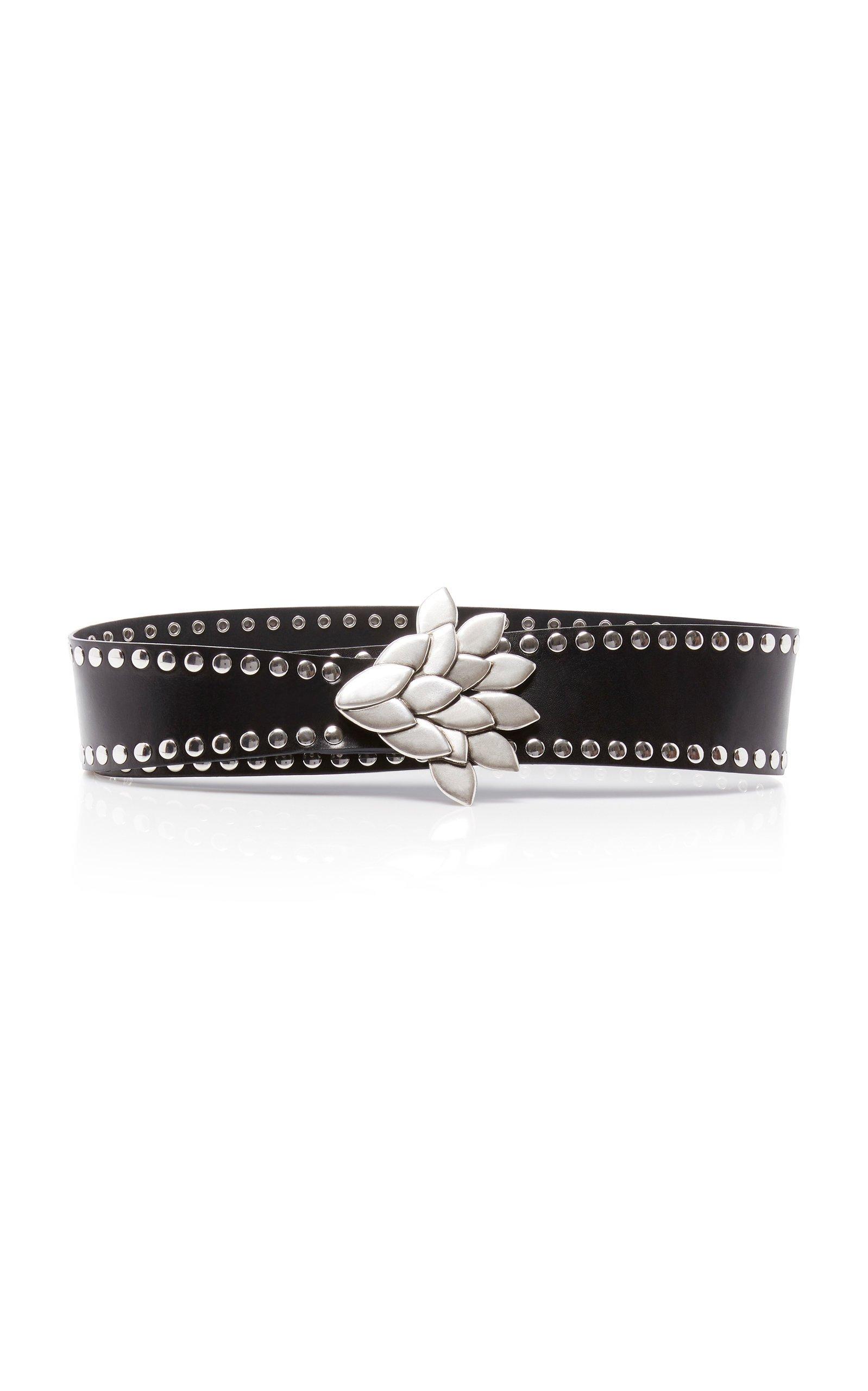 Isabel Marant Lowi Studded Leather Belt Size: XS