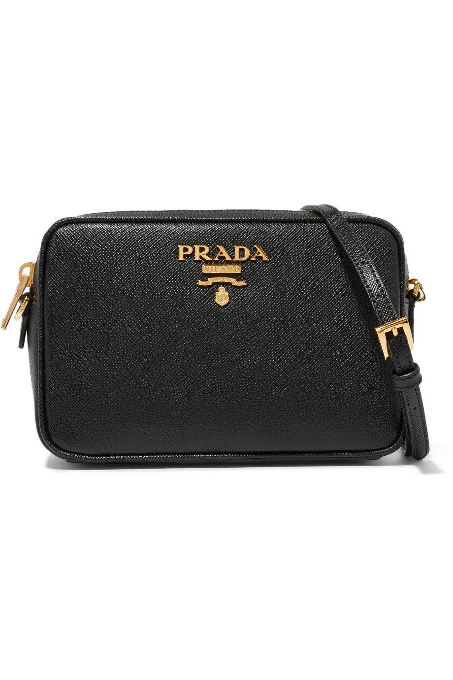 Prada | Textured-leather shoulder bag | NET-A-PORTER.COM