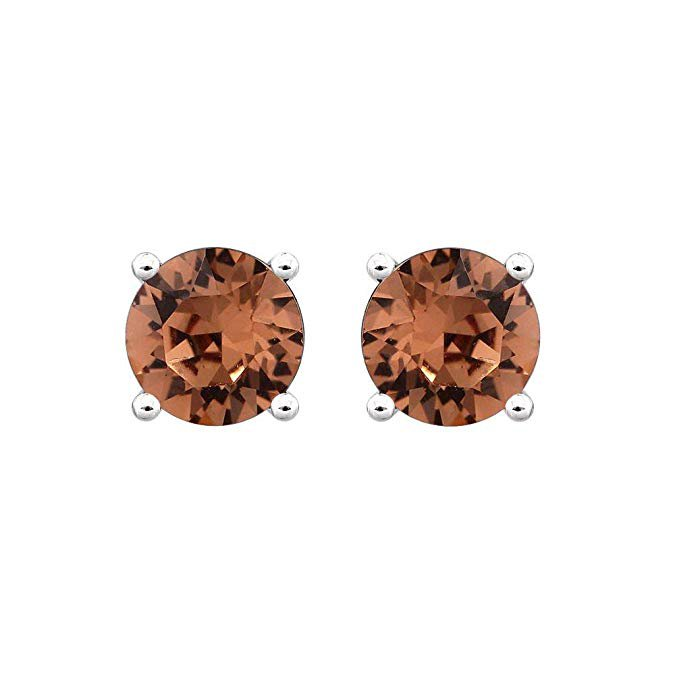 Amazon.com: Swarovski Earrings, GLIMMERING June Birthstone Smoky Quartz Color Swarovski Stud Earrings for Women, Swarovski Crystal Earring Studs with Certificate and Warranty, Hypoallergenic Stud Earrings: Clothing