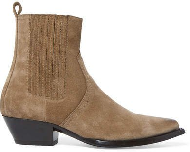 Lukas Suede Ankle Boots - Beige