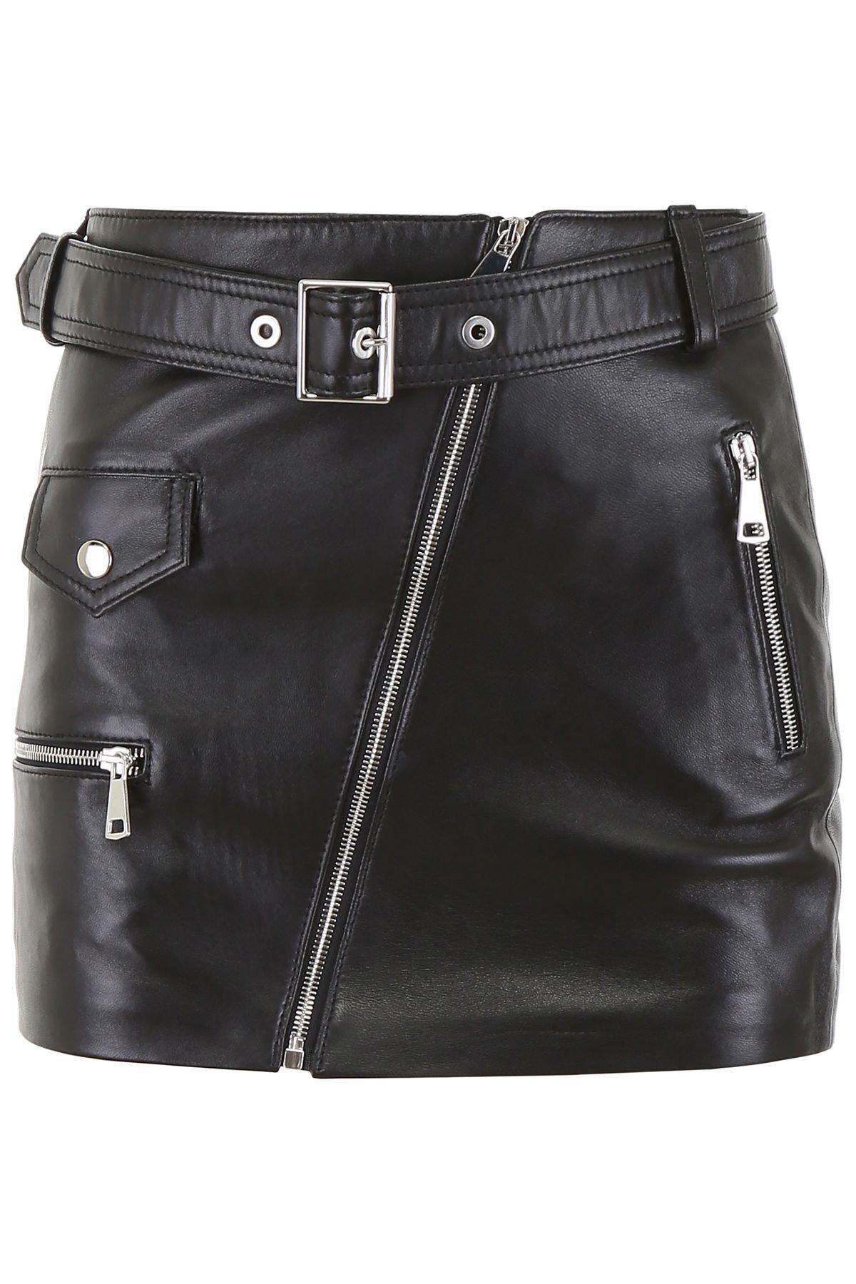 Manokhi Leather Biker Skirt