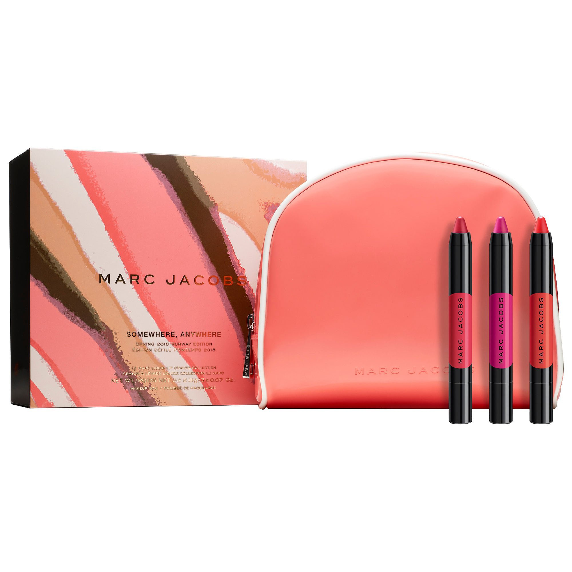 Somewhere, Anywhere - Le Marc Liquid Lip Crayon Collection - Marc Jacobs Beauty | Sephora